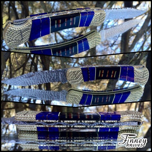 Custom Buck 110 with Genuine WWII American Campaign ribbons and Azurite Web Prototype