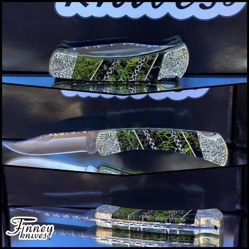 Custom Buck 110 with Wolf Lichen Moss 1 of 1