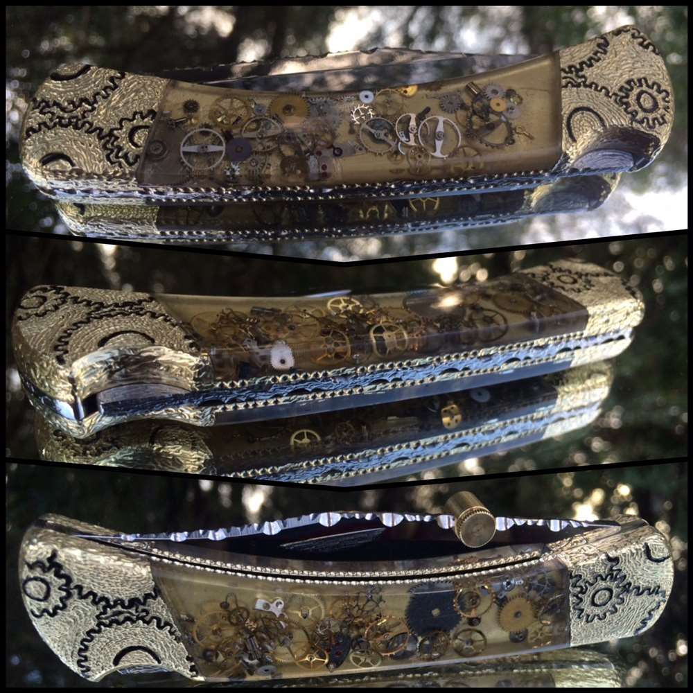 The First Buck 110 Steampunk Vintage Watch Parts Knife ever made.